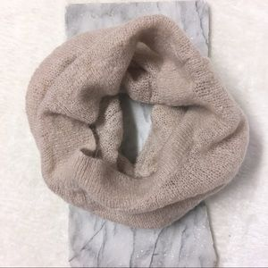 Wilfred Wool Mohair Pink Knit Infinity Scarf